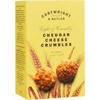 Cartwright & Butler Rich Cheddar Cheese Crumbles - Delicious Cheese Biscuits made and topped with authentic Gouda Cheese 75g 0000 - Süßes & Salziges
