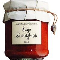 Cascina San Giovanni Sugo di cinghiale - Tomatensauce mit Wildschweinfleisch 180ml 0000 - Saucen