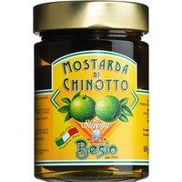Besio Mostarda di Chinotto di Savona – Senffrüchte aus Bitterorangen 430g 0000 – Saucen, Pesto & Chutneys, Italien, 0.4300 kg