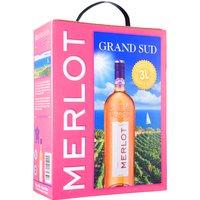 Grand Sud Merlot rosé 3,0L Bag in Box   – Roséwein, Frankreich, trocken, 3l