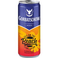 Wodka Gorbatschow Sex on the Beach 10% - 330ml Dose   - Vodka