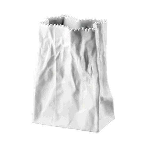 Rosenthal Tütenvase 14 cm Weiß matt