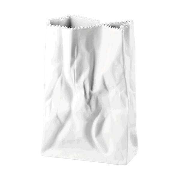 Rosenthal Tütenvase 18 cm Weiß matt