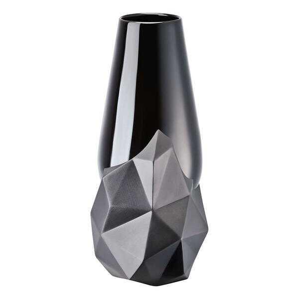 Rosenthal Vase 27 cm schwarz Geode