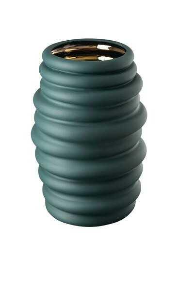 Rosenthal Vase 36 cm Hop green – gold