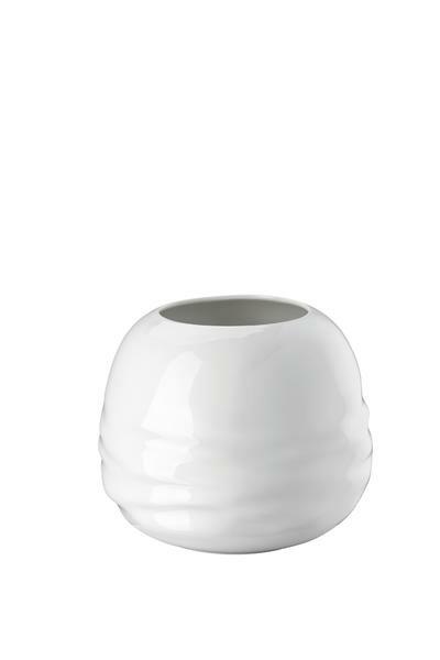Rosenthal Vase 16 cm Vesi Wavelets weiss