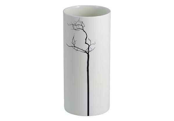 """Dibbern Vase 29 cm """"Black Forest"""" zylindrisch"""