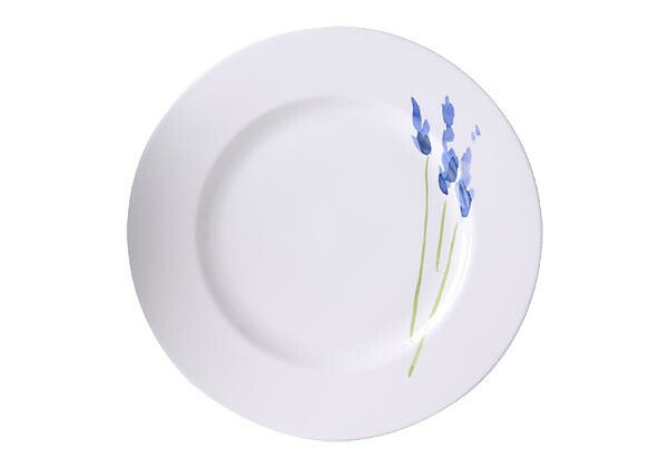 Dibbern Teller 26,5 cm Impression Blume Blau