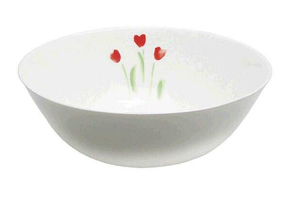 Dibbern Schüssel 21 cm Impression Blume Rot rund