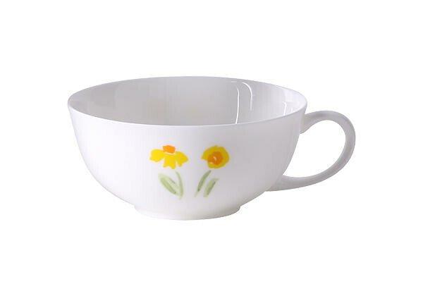 Dibbern Teetasse 0,2l Impression Blume gelb