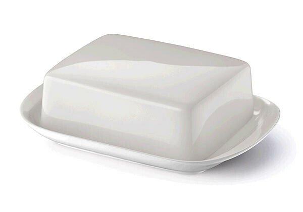 Dibbern Butterdose Solid Color pearl
