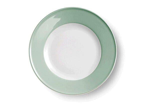 Dibbern Teller flach 21 cm Solid Color salbei