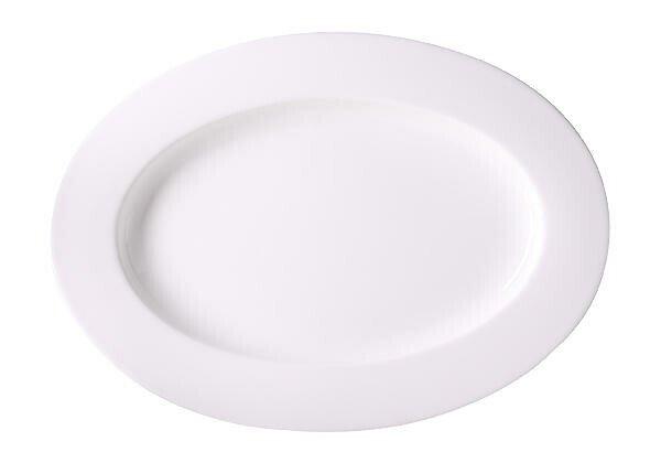 Dibbern Platte 34 cm oval Bone China Weiß
