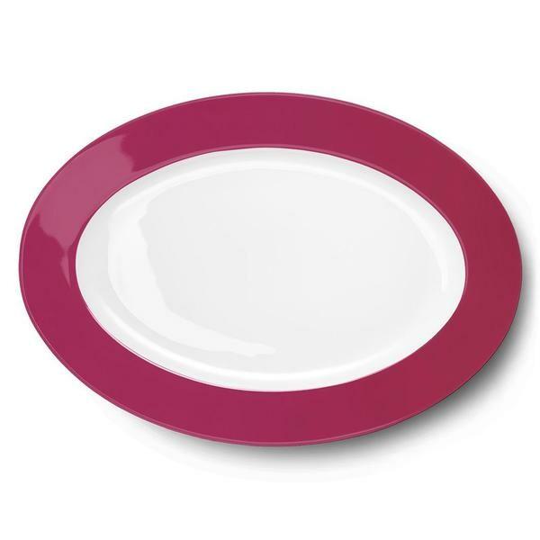 Dibbern Platte oval 36 cm Solid Color himbeere