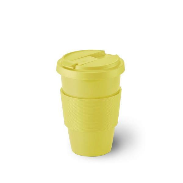 Dibbern Porzellanbecher Coffee-To-Go 0,35 l Solid Color zitrone