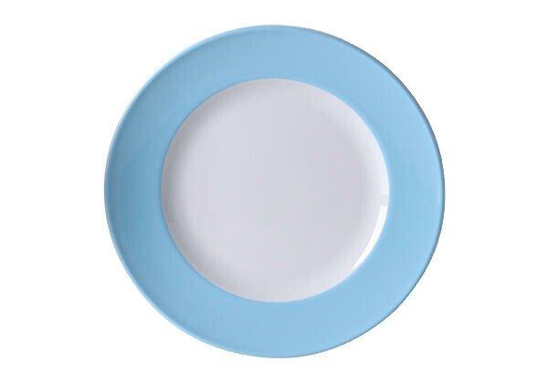 Dibbern Teller 26 cm Solid Color Hellblau flach