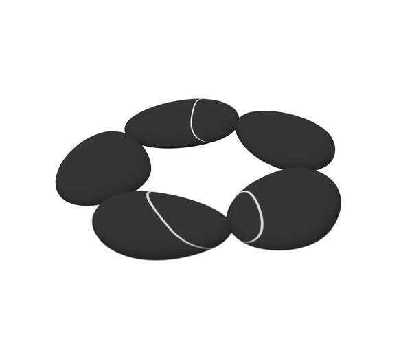 Toast Living Untersetzer Steine silikon schwarz