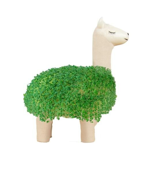 Gift Republic Green Lama Keramik weiß