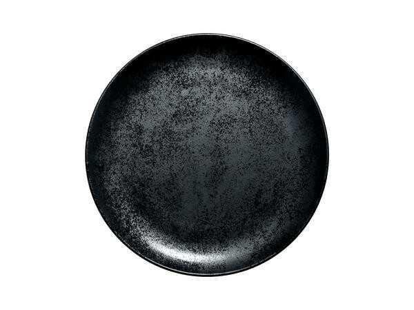 RAK Teller flach coup 27×3 cm Fusion Karbon schwarz