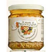 Montanini Aglio Olio & Peperoncino – gehacktes Knoblauch mit Öl …, Italien, 0.1800 kg