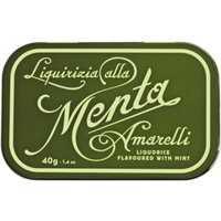 Amarelli Liquirizia alla Menta 40g   – Fudge, Dragees, Bonbons, Italien, 0.0400 kg