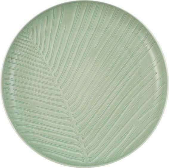 Villeroy & Boch Teller Leaf mineral it's my match grün, weiß