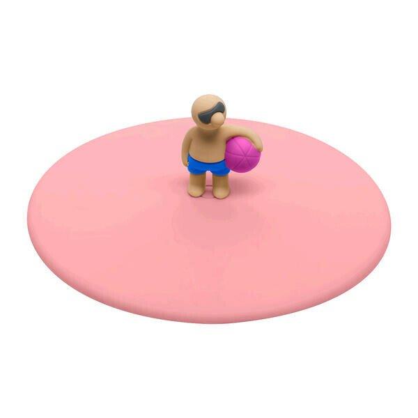 Lurch Sommerdeckel Benni Ball Silikon rosa rund