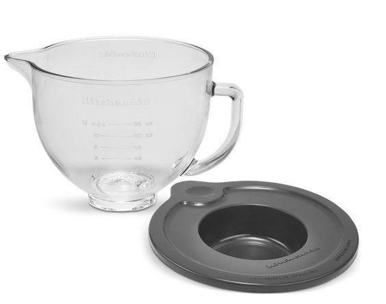 KitchenAid Glasschüssel 4,83l mit Silikondeckel