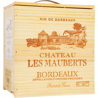 Chateau Les Mauberts Bordeaux Bag in Wood Aoc  3L Bag in Box 2018…, Frankreich, trocken, 3l