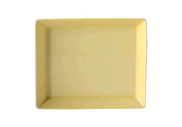 Arzberg Platte 15 cm x 12 cm eckig Tric Gelb