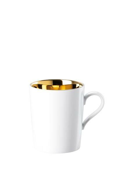Arzberg Becher mit Henkel Tric Gold titanisiert