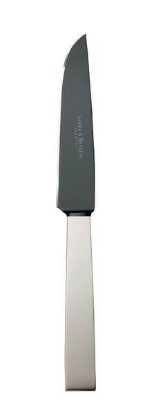 Robbe & Berking Steakmesser Frozen Black Riva 925 Sterlingsilber