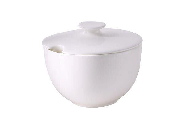 Dibbern Zuckerdose 0,25 l rund Bone China Weiß