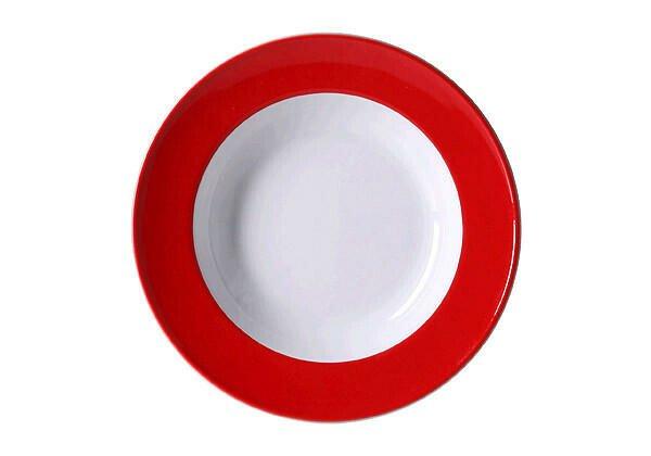 Dibbern Suppenteller 23 cm Solid Color Signalrot