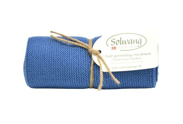 Solwang Handtuch staubig blau