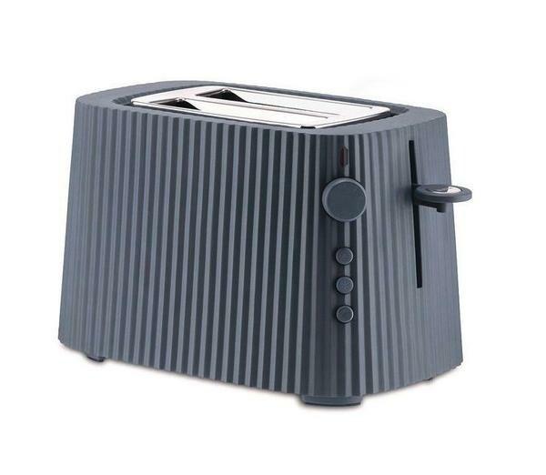 Alessi Toaster Plissé grau