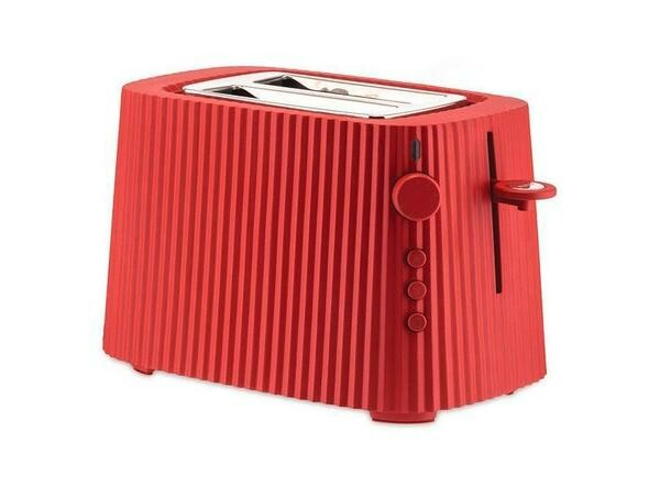 Alessi Toaster Plissé rot