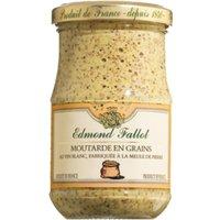 Edmond Fallot Moutarde en grains 205g   – Saucen, Pesto & Chutneys, Frankreich, 0.2050 kg