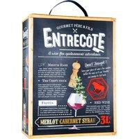 Entrecôte – Cabernet Sauvignon   Syrah     3,0L Bag in Box   – R…, Frankreich, halbtrocken, 3l