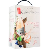 Chantenais Cinsault rosé 3,0L Bag in Box   – Roséwein, Frankreich, trocken, 3l