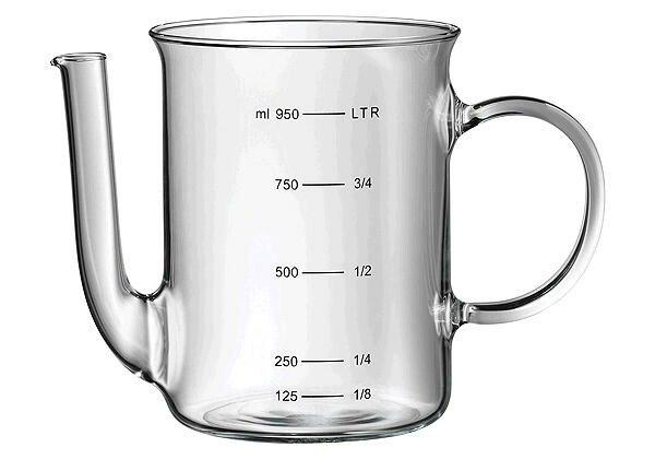 WMF Fettreduzierkanne mundgeblasen hitzebeständiges Glas