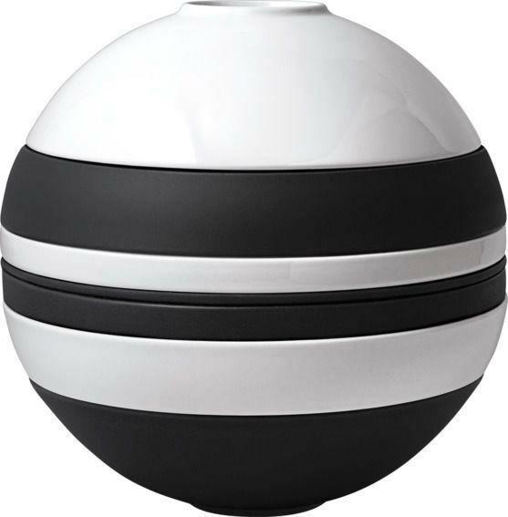 Villeroy & Boch Geschirr-Set 7-tlg. La Boule Iconic schwarz-weiß