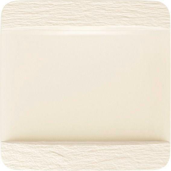 Villeroy & Boch Servierplatte/ Gourmetteller quadratisch 28 cm Manufacture Rock blanc