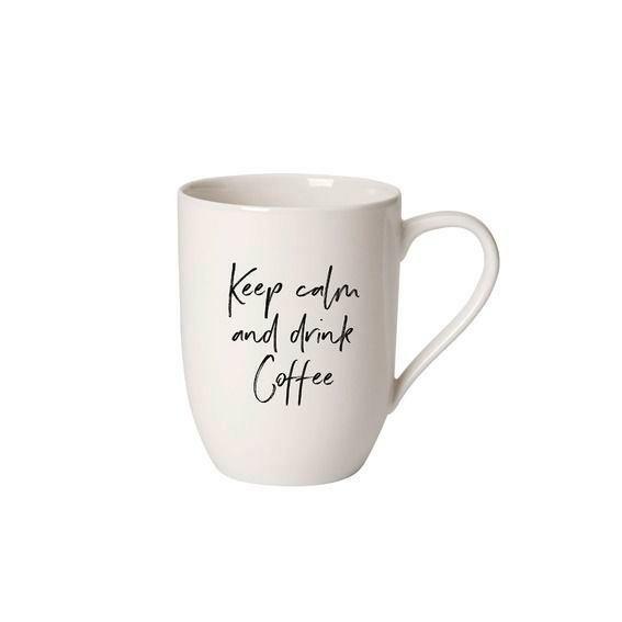 Villeroy & Boch Henkelbecher 0,34 l Statement Keep calm and drink Coffee