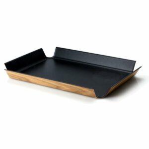 Continenta Tablett rutschfest 41x30 cm schwarz metallic