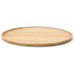 Continenta Tablett oval 24 cm Gummibaum