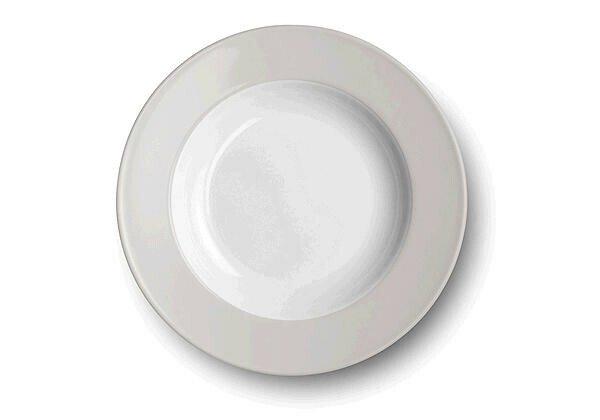 Dibbern Teller tief 23cm Solid Color pearl