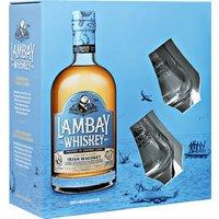 Lambay Whiskey Small Batch Blend Irish Whiskey in Gp mit Gläsern...