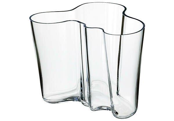 iittala Vase 16 cm Alvar Aalto klar