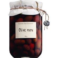 Cascina San Giovanni Olive nere – Schwarze Oliven mit Stein in Sa…, Italien, 200g